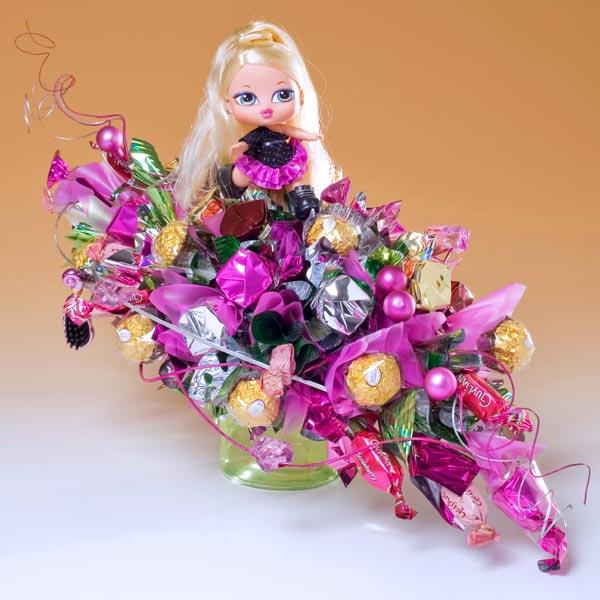 """Букеты для детей Букет из конфет  """"Кукла Babyz """": Описание товара, заказ и отзывы."""