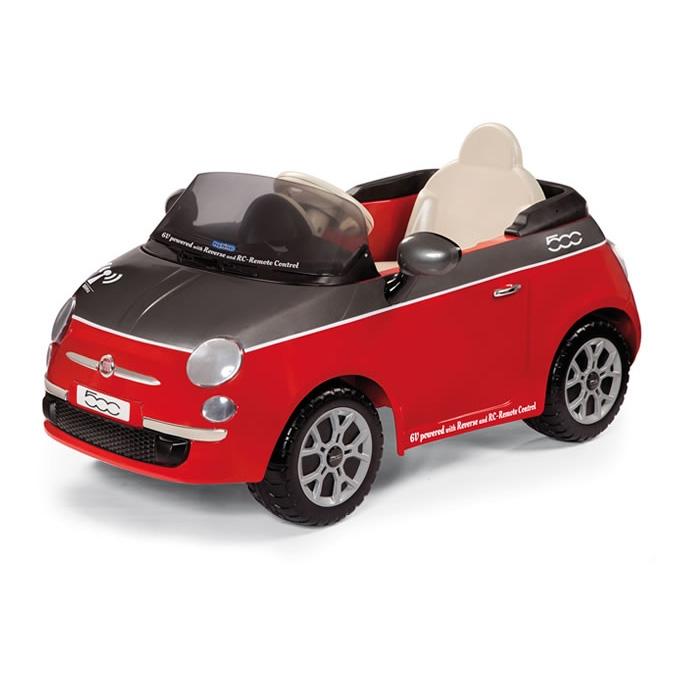 Детские электромобили | Детский электромобиль Peg-Perego Fiat 500 red (р/у) (IGED1163)
