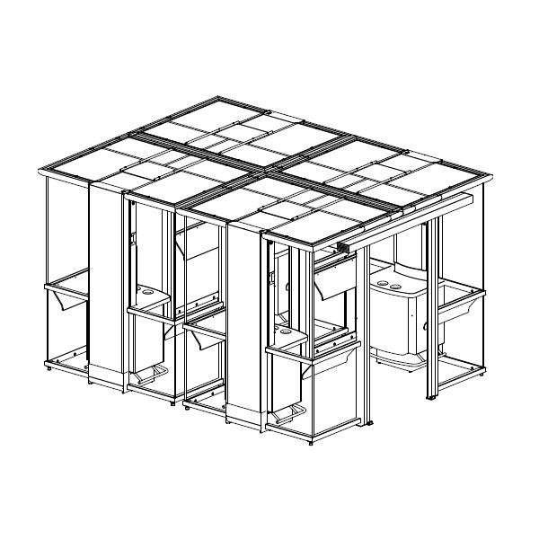 Курительные кабины и комнаты | Курительная кабина Euromate Smoke`n Go Double Plaza PA