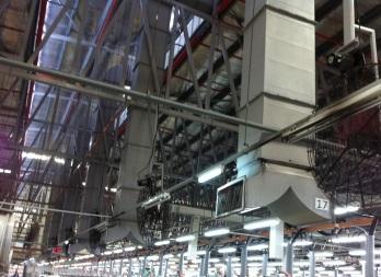 вентиляция цеха завода, вентиляция производственного помещения